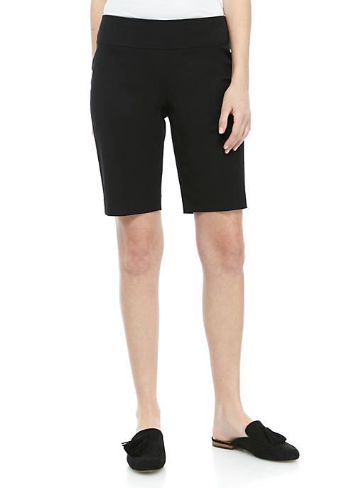 Crown & Ivy™ Ashley Bi Stretch Bermuda Shorts