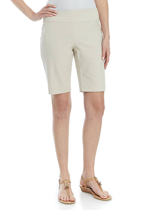 Crown & Ivy™ Ashley Bi Stretch Bermuda Shorts