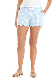Crown & Ivy™ Shelby Scalloped Hem Shortas