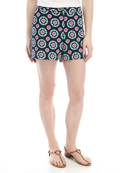 Crown & Ivy™ Caroline Printed Shorts