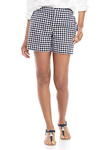 Crown & Ivy™ Ruffle Waist Gingham Shorts