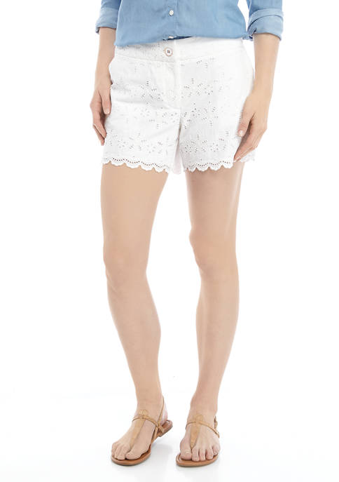 Womens Scallop Shorts