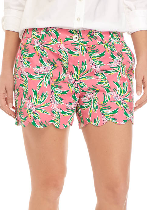 Crown & Ivy™ Womens Scalloped Printed Shorts