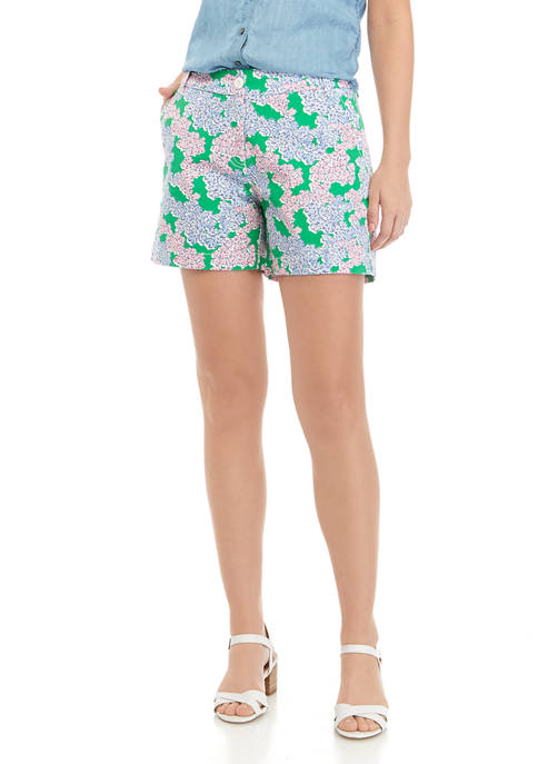 Womens 5 Inch Printed Shorts