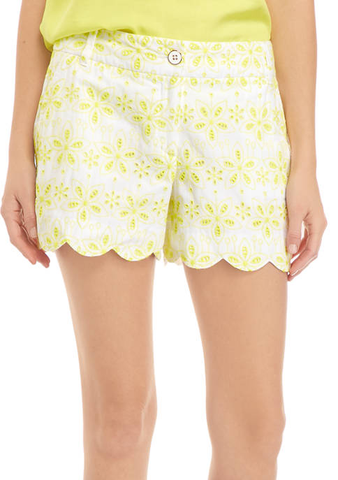 Crown & Ivy™ Womens Scallop Shorts