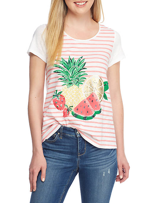 Crown & Ivy™ Poetry Fruit Tee