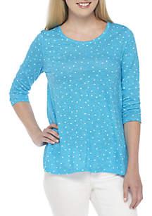 3/4 Sleeve EDV Print T-Shirt