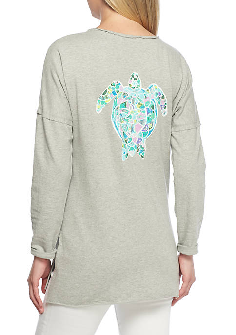 Crown & Ivy™ Long Sleeve Graphic Sweeper
