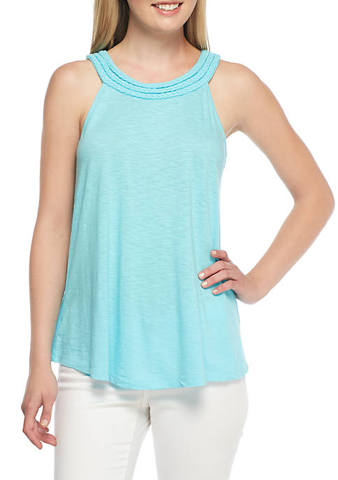 Crown & Ivy™ Sleeveless Halter Tank