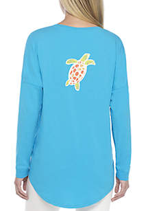 Plus Size Long Sleeve Graphic Sweeper Tee