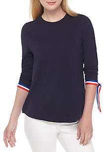 3/4 Basic Tie Sleeve Top
