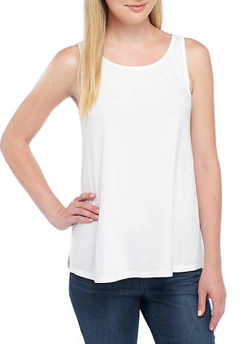 Crown & Ivy™ Short Sleeve Yoke Tank