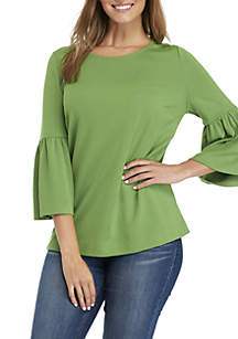 Colorblock 3/4 Bell Sleeve Top