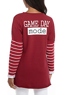 Raw Edge Game Day Mode Graphic Top