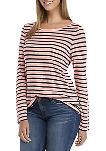 Buttoned-Sleeve Top