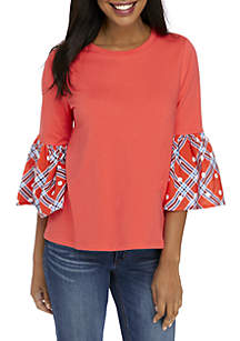 8a6d3f4acec ... Crown   Ivy™ 3 4 Flare Sleeve Halo Hem Top