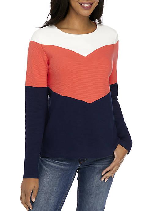 Colorblock Textured Sweater