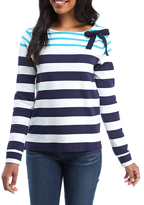 Long Sleeve Bow Detail Top