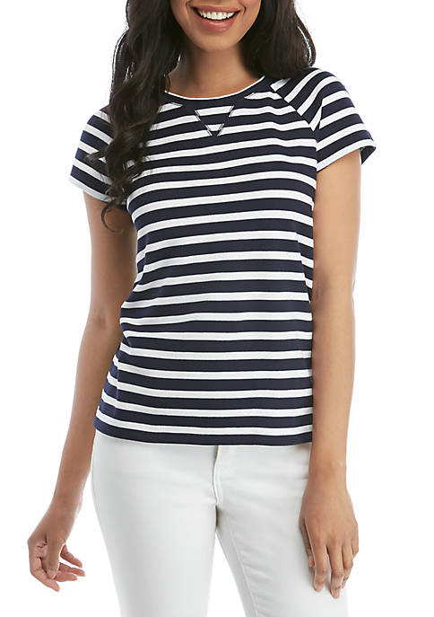 Short Sleeve V Stitch T Shirt