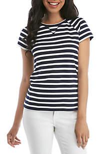 37c6dccb8 ... Crown & Ivy™ Short Sleeve V Stitch T Shirt