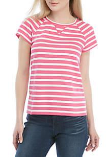 9f495acce ... Crown & Ivy™ Short Sleeve V Stitch T Shirt