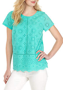 be6d47c64e8d ... Crown   Ivy™ Short Sleeve Eyelet Top