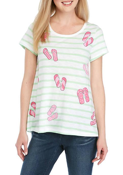 Crown & Ivy™ Flip Flop T Shirt