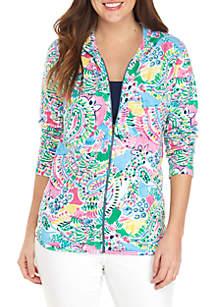 Crown & Ivy™ Long Sleeve Print Zip Hood Jacket