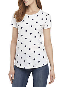 99f262457a52 ... Crown   Ivy™ Short Sleeve Crew Neck Top