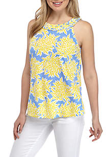 Crown & Ivy™ Sleeveless Braided Neck Top