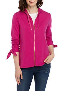 Crown & Ivy™ Long Sleeve Zip Hoodie