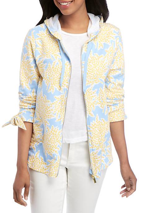 Long Sleeve Printed Zip Hoodie