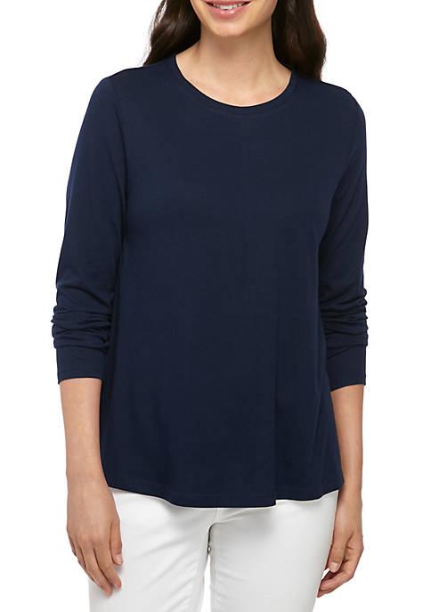 Crown & Ivy™ Long Sleeve Swing T Shirt