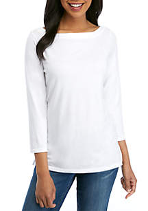 b3d270e4b79 ... Crown   Ivy™ 3 4 Sleeve Boat Neck Top