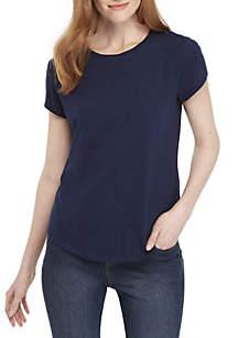 Crown & Ivy™ Short Sleeve Crew Neck T Shirt