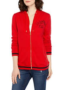 Crown & Ivy™ Long Sleeve Zip Up Hoodie