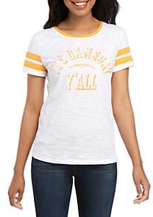 Crown & Ivy™ Short Sleeve Graphic Football Tee
