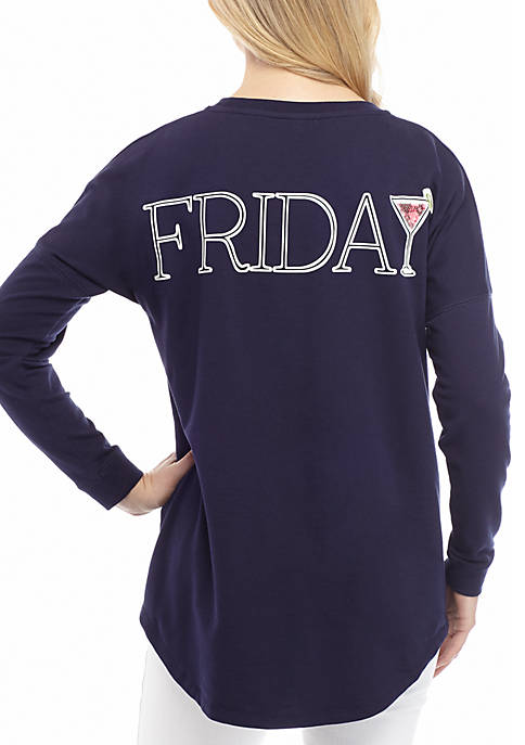 Crown & Ivy™ Long Sleeve Sweeper Top