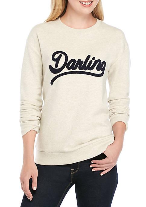 Crown & Ivy™ Long Sleeve Graphic Print Sweatshirt