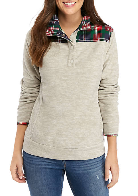 Crown & Ivy™ Womens Long Sleeve Mock Neck