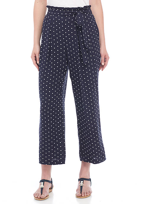 Crown & Ivy™ Wide Leg Tie Pants