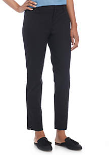 Crown & Ivy™ Cary Bi Stretch Fly Front Pants