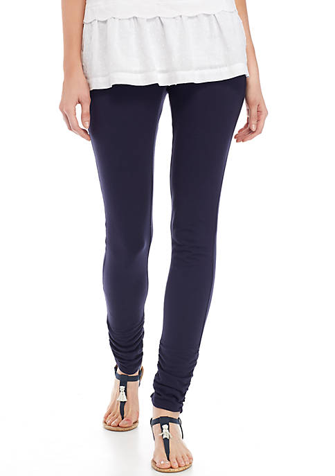 Crown & Ivy™ Ruched Solid Legging