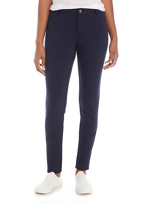 Crown & Ivy™ Ponte Regular Solid Pants