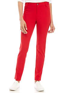 Ponte Regular Solid Pants