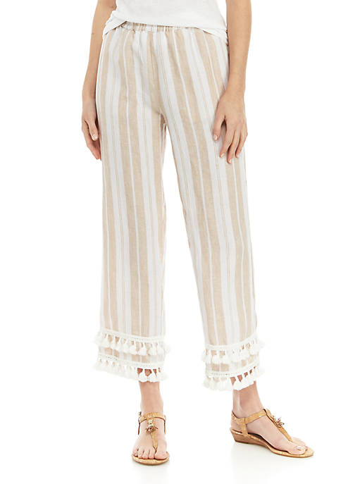 Crown & Ivy™ Tassel Tier Stripe Pants