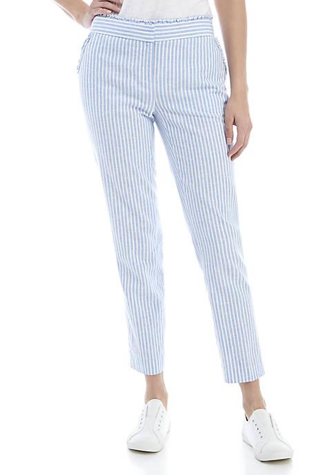 Crown & Ivy™ Cropped Ruffle Waist Pants
