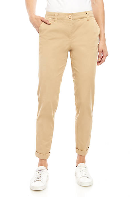 Crown & Ivy™ Rolled Chino Pants