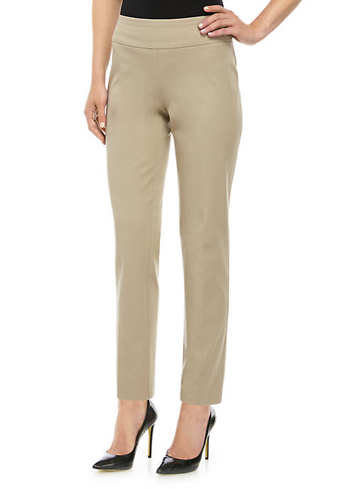Crown & Ivy™ Stretch Pull On Short Pants