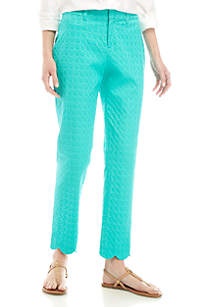 Crown & Ivy™ Jacquard Scallop Hem Pants